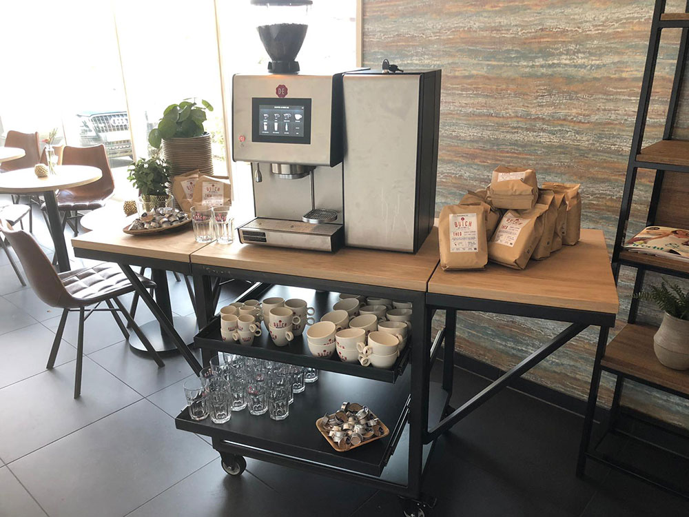 Interieur - Koffiekar staal